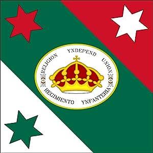 magFlags Large Flag Trigarante MNH | Versión vectorial de la Bandera de las Tres Garantías que se exhibe en el Museo Nacional de Historia | 1.35m² | 14.5sqft | 120x120cm | 45x45i