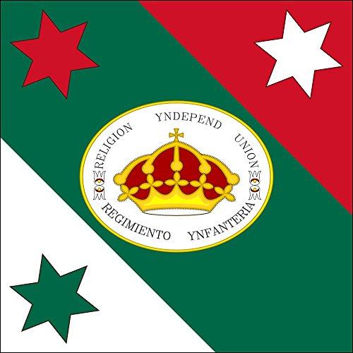 magFlags Large Flag Trigarante MNH | Versión vectorial de la Bandera de las Tres Garantías que se exhibe en el Museo Nacional de Historia | 1.35m² | 14.5sqft -- 100% Made in (Mnh Map)