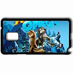 Personalized Samsung Note 4 Cell phone Case/Cover Skin Alpha and Omega wolf Kate Humphrey mountain Movies Black