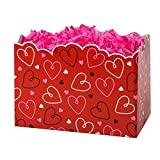Large Doodle Hearts Basket Boxes - 10 1/4 x 6 x 7 1/2in. - 36 Pack