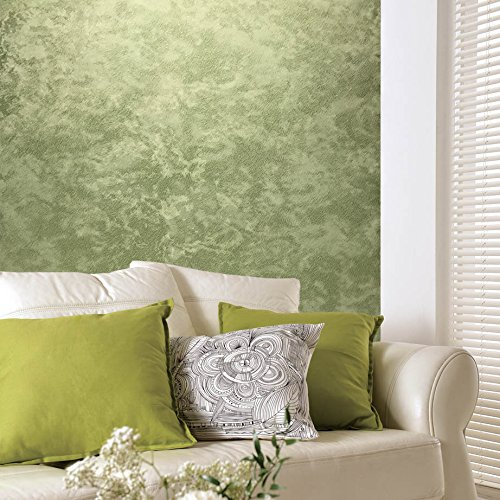76 sq.ft Rolls Italian Portofino Textured wallcoverings Modern Abstract Kashmir Embossed Vinyl Wallpaper Green Metallic Faux Wool Fur Texture Fabric Design Plain strippable Covering Wall coverings