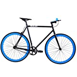 Golden Cycles Fixed Gear Bike Steel Frame Fixie with Deep V Rims-Collection (Magic, 55)