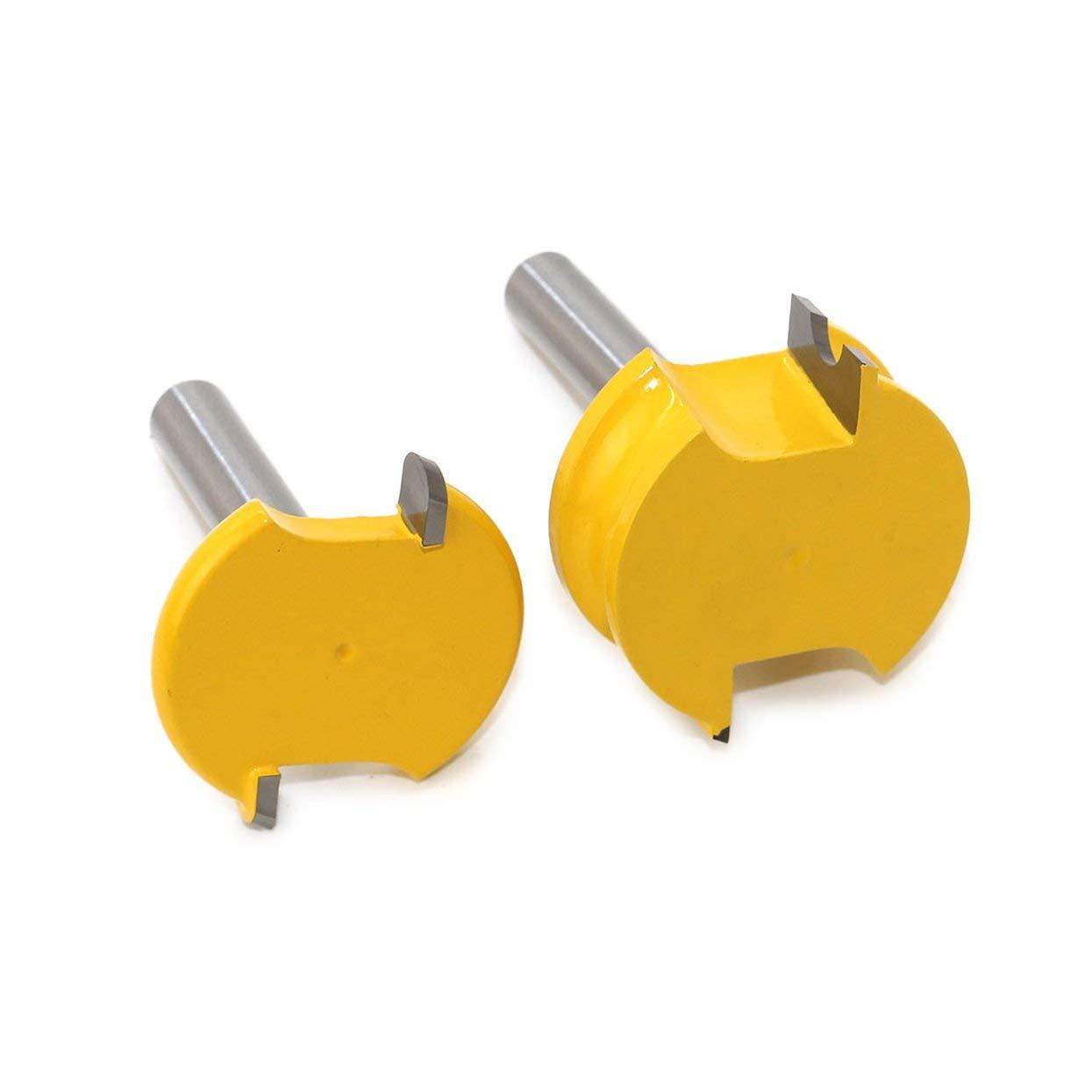 2 ST/ÜCKE 8 MM Schaft Kanu Fl/öte und Perle Fr/äser Set Holzschneider Holz Zapfen Fr/äser Bits Werkzeuge-Gelb /& Silber
