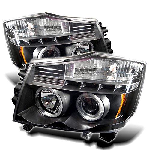 itan/Nissan Armada Black Halogen LED Projector Headlight (Nissan Projector Headlights)