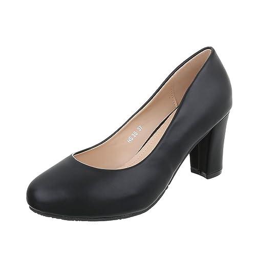 Ital-Design - Cerrado Mujer , color negro, talla 40 EU