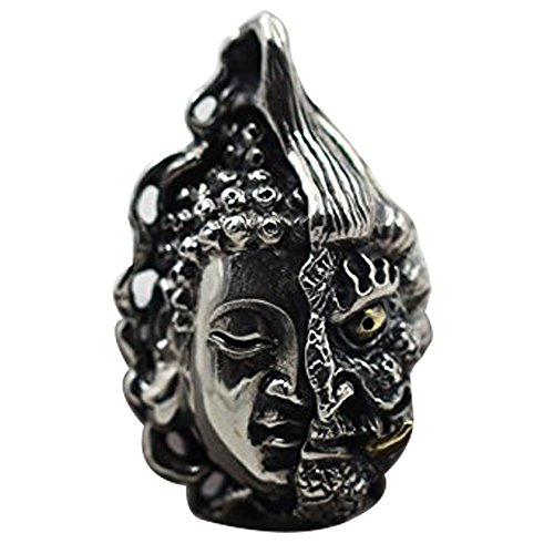 - s925 sterling silver handmade carved Thai silver Buddha Pendant