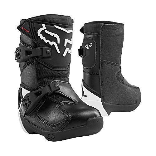 2020 Fox Racing Kids Comp Boots-Black-K12 (Dirt Bike Boots Youth)