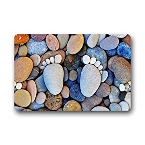 Cobblestone Pattern Background Doormat/Gate Pad for outdoor,indoor,bathroom use!23.6inch(L) x 15.7inch(W)