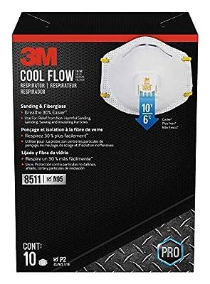 3M 8511HB1-C-PS Sanding and Fiberglass Valved Respirator