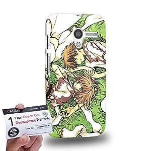 Case88 [Motorola Moto X (1st Gen)] 3D impresa Carcasa/Funda dura para & Tarjeta de garantía - Tusbasa Chronicle Syaoran Sakura 1389