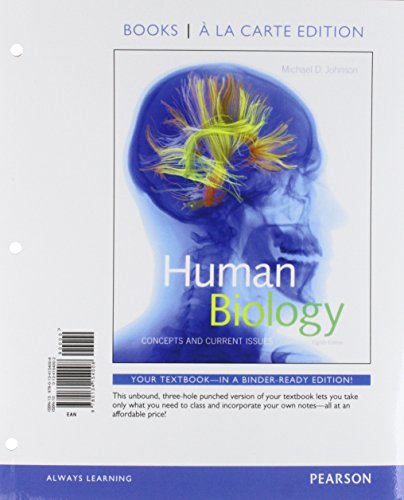 Human Biology: Concepts and Current Issues, Books a la Carte Edition; Modified Mastering Biology with Pearson eText -- ValuePack Access Card -- for ... Concepts and Current Issues (8th Edition)