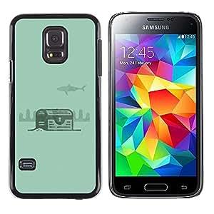 LECELL--Funda protectora / Cubierta / Piel For Samsung Galaxy S5 Mini, SM-G800, NOT S5 REGULAR! -- Green Treasure Diving Diver Underwater --