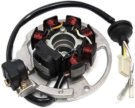SHUmandala Magneto Stator Replace for Polaris Scrambler 50 90 2001-2003//Sportsman 90 2001-2006//Predator 50 90 2003-2006 0450523 0451000 0450522 0450998//ETON 50 90 RXL-50 RXL-90 AXL//DXL//NXL//TXL 650234
