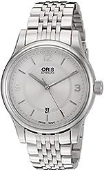 Oris Men's 73375944031MB Classic Analog Display Swiss Automatic Silver Watch