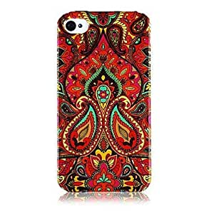 JJE sold out National style Colorful Line Pattern Silicone Soft Case for iPhone5/5S