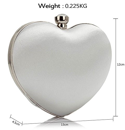 Handbag Stones New Newlook Clutch Design Heart Bag Luxury Ladies Diamante White Design Evening 1 Party pvwYw