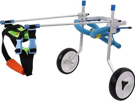 Silla de ruedas ajustable for perros de dos ruedas, carro, 8 ...