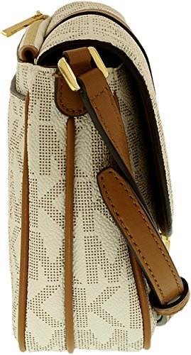 Michael Michael Kors Charlton Large Crossbody Mujer Bolsos de mujer Dorado - Vanilla Signature/Gold