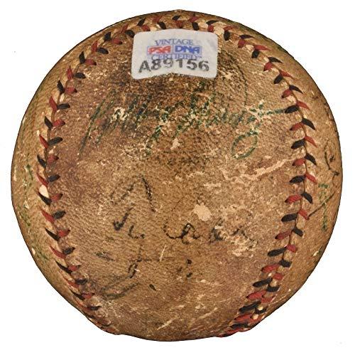 Extraordinary Babe Ruth Ty Cobb Honus Wagner Cy Young Signed Baseball PSA & JSA