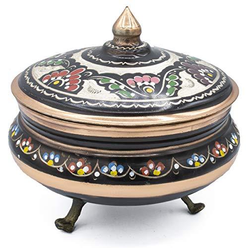 Pure Copper Sugar Pot Chocolate Candy Bowl Serving Dish Storage Jar Seasoning Pot with Lid Housewarming Gift