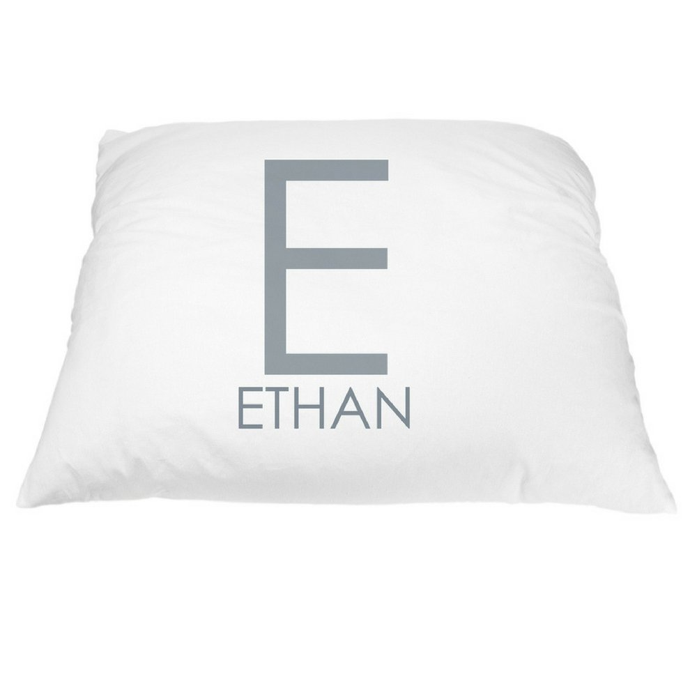 Personalized Monogrammed Pillowcase, Custom Pillowcases, Pillowcases Personalized, Decorative Pillowcase, Personalized Pillows for Kids, Gender Neutral Bedding, Microfiber Standard 20 by 30 inches