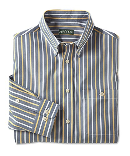 inpoint Stripe Shirt, Large (Wrinkle Free Pure Cotton Shirt)