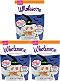 Wholesome Lollipop Halloween Candy Treats - USDA Organic, Naturally Flavored Ghosts & Skulls in Watermelon and Orange Flavors, 7.4 Ounce Bag (Pack of 3) - Non-GMO, Gluten, Peanut and Tree Nut Free
