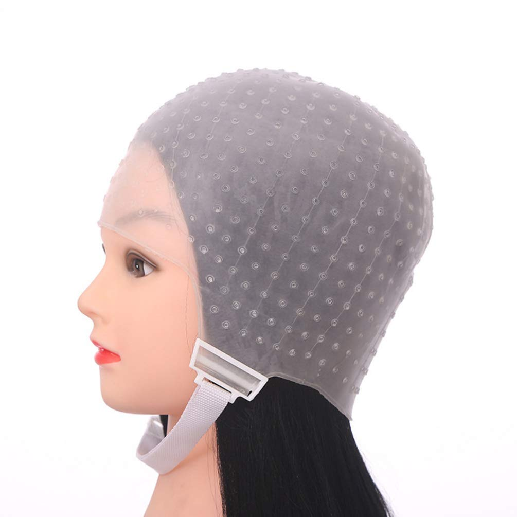 Hair Dye Caps Silicone Highlight Caps Frosting Tipping Hair Coloring Caps With Hooks Hair Salon Tinting Tools