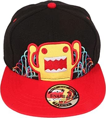042c92092bd37 ILU 3D Domo Kid s Snapback Hiphop Cap Black and Red  Amazon.in  Clothing    Accessories