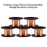 5 Rolls/Set 15m Copper Wire Enameled Wire Copper