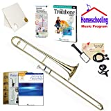 Homeschool Music - Learn to Play the Trombone Pack (Praise & Worship Music Book Bundle) - Includes Student Trombone w/Case, DVD, Books & All Inclusive Learning Essentials