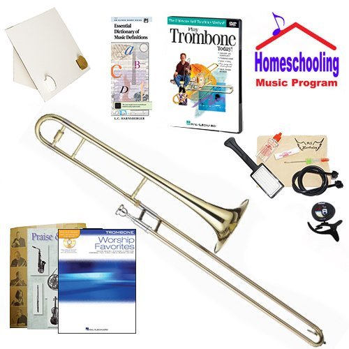 Homeschool Music - Learn to Play the Trombone Pack (Praise & Worship Music Book Bundle) - Includes Student Trombone w/Case, DVD, Books & All Inclusive Learning Essentials by Ryker Sound Discoveries (Image #9)