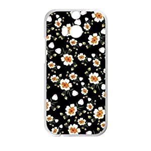Canting_Good,Retro Floral Daisy, Custom Case for HTC One M8 (Laser Technology)