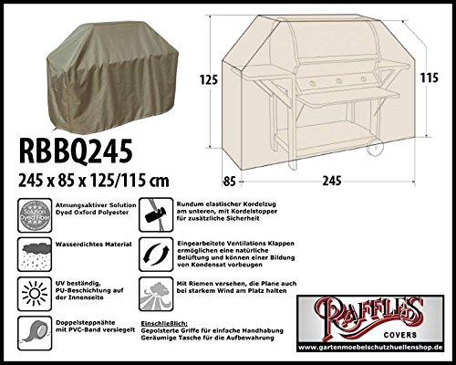 RBBQ245 BBQ Grill Abdeckhaube Gasgrill Schutzhülle Outdoor-Küchen Haube Grillabdeckung