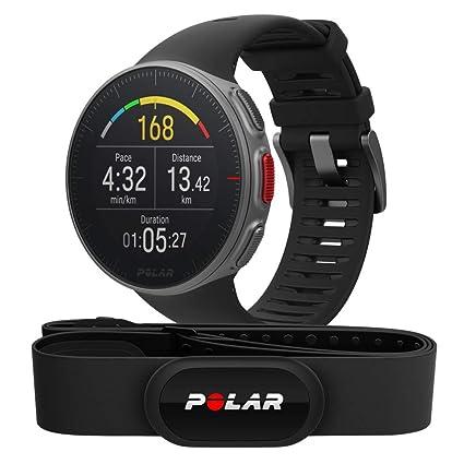 Polar Vantage V HR -Reloj premium con GPS y Frecuencia cardíaca - Sensor H10 - Multideporte y perfil de triatlón - Potencia de running, batería ultra ...