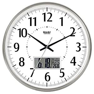 Jiaa Wall Clock For Living Room Bedroom Round Quartz Mute Home Decor 14 Inch Flat