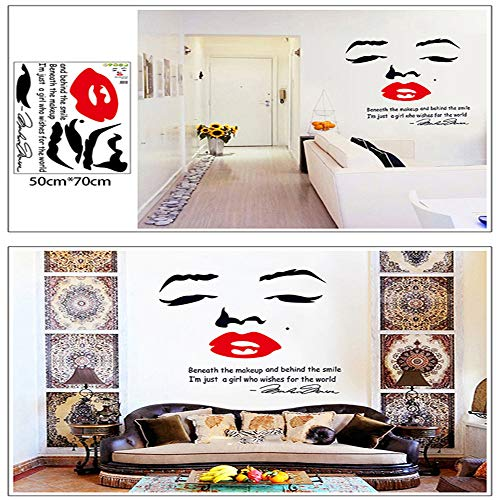 Removeable Vinyl Stickers - Funwill Marilyn Monroe Wall Quote Decal Removable Stickers Decor Vinyl DIY Removeable