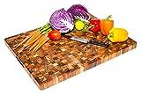 Teak Cutting Board - Rectangle End Grain Butcher