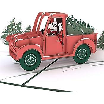 Hallmark Signature Disney Christmas Card Wood Mickey Mouse