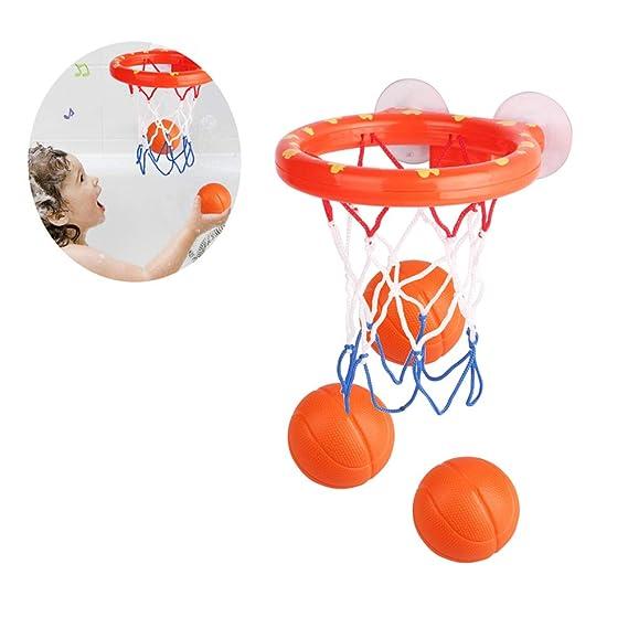 Baño Del Bebé Juguetes Mini Baloncesto Set De Juegos Del Aro De ...