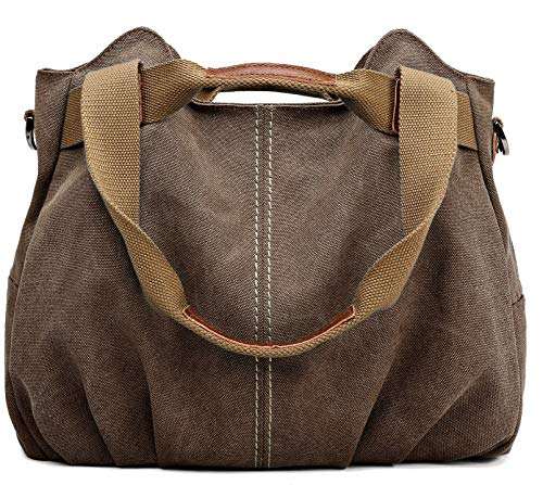 Z-joyee Women's Ladies Casual Vintage Hobo Canvas Daily Purse Top Handle Shoulder Tote Shopper Handbag Satchel Bag (Vintage Denim Sale)