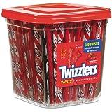 TWIZZLER 884064 Strawberry Twizzlers Licorice, Individually Wrapped, 180/Tub, 57.5 oz Tub