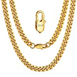Personalised Name Rapper Gold Chain Necklace 20inch 6MM Boyfriend Gift