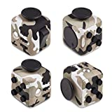 Original Envolve Camouflage Fidget Cube (Khaki Green) - For focus, calm anxiety, and break nervous habits (Gift Packaging)