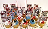 STANFORD UNIVERSITY Football Birthday Party Cupcake Topper Party Favor Set