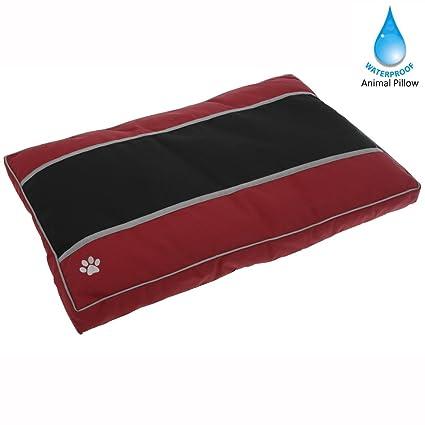 A prueba de agua para mascotas Almohada Cama para Perros (rojo) - Colchón para