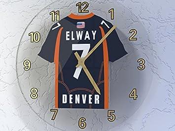 NFL la liga nacional de fútbol relojes de pared - AFC WEST fútbol americano JERSEY relojes - cualquier nombre, cualquier número, cualquier equipo KANSAS ...