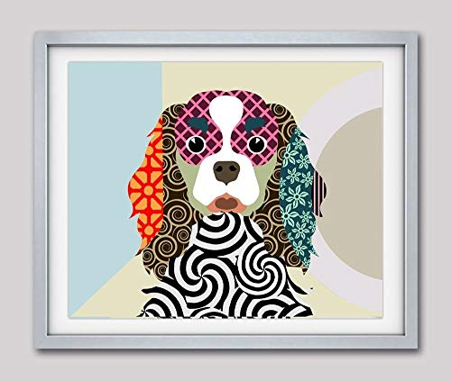 "Cavalier King Charles Spaniel Dog Pet Pop Art Giclée Print-8"" x 10"", 11"" x 14"""