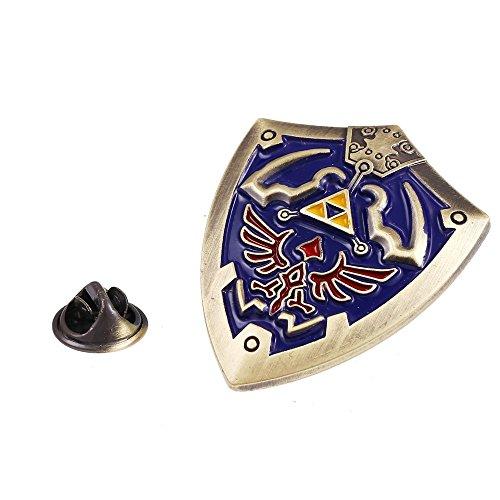 (Zelda Pin - Hylian Shield Pin - Zelda Brooch - Hylian Shield Brooch)