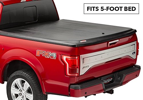 UnderCover SE One-Piece Truck Bed Tonneau Cover | UC4056 | fits 2005-2015 Toyota Tacoma 5ft Short Bed Crew